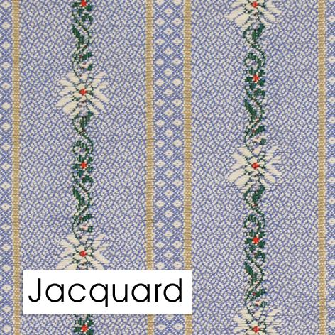 Jacquard Gewebe komplex Edelweiss