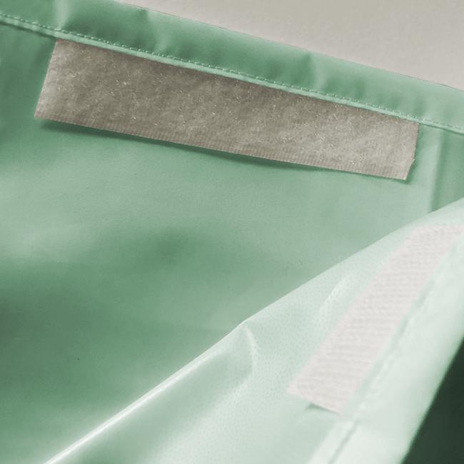Velcro fastner Gown